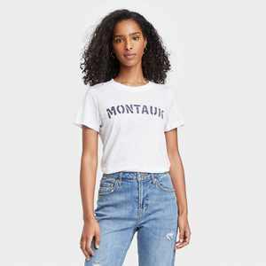 Women's Montauk Short Sleeve Graphic T-Shirt - White