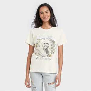 Women's Janis Joplin Short Sleeve Graphic T-Shirt - White