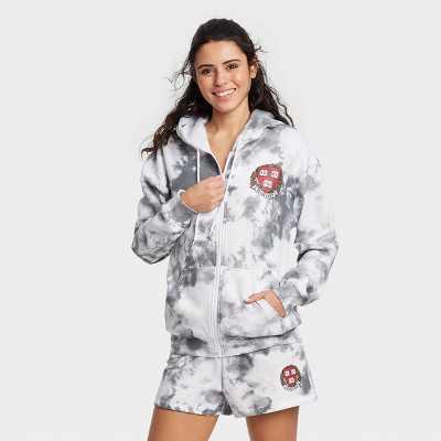 Women's Harvard Athletic Zip-Up Hooded Graphic Sweatshirt - Gray