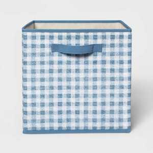 "13"" Fabric Gingham Storage Bin - Pillowfort"