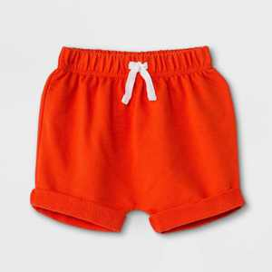 Baby Boys' Knit Pull-On Shorts - Cat & Jack Dark Orange