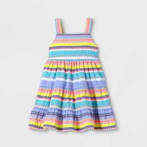 Toddler Girls' Tiered Striped Tank Dress - Cat & Jack