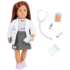 """Our Generation Daya with Plush Hamster 18"""" Pet Care Vet Doll"""