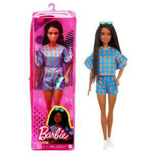 Barbie Fashionista Doll - Twisted Hair with Hearts Top