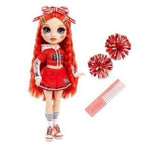 Rainbow HighCheer Ruby Anderson - RedFashion Dollwith Cheerleader Outfit andDoll Accessories