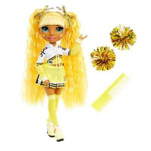 Rainbow HighCheer Sunny Madison - YellowFashion Dollwith Cheerleader Outfit andDoll Accessories