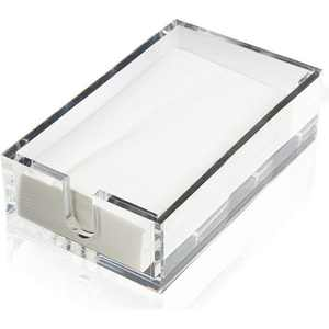 Acrylic Napkin Holder with Napkins (Fits 8 x 4.5 in.)