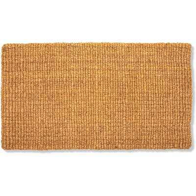 """Juvale Natural Coco Coir Welcome Door Mat Outdoor Indoor, Plain Front Doormat Entryway Rug, 1'4""""x2'5"""""""