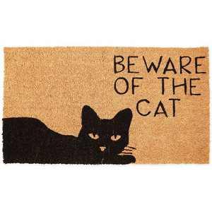 Beware of The Cat Doormat (Coconut Coir)