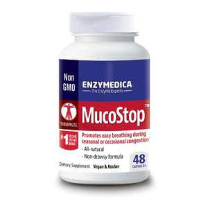 Enzymedica Dietary Supplements Mucostop Capsule 48ct