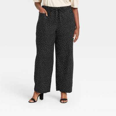 Women's Wide Leg Pant - Who What Wear Black