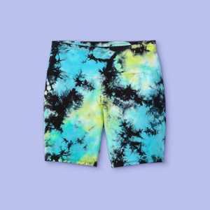 Girls' Tie-Dye Bike Shorts - More Than Magic Aqua/Lime