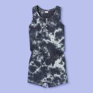 Girls' Button-Front Knit Romper - More Than Magic Black