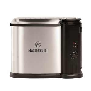 Masterbuilt MB20012420 Butterball XL 10 Liter Electric 3-in-1 Deep Fryer Boiler Steamer Cooker with Basket for Versatile Kitchen Fry Cooking, Silver