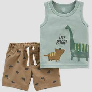 Baby Boys' Dino Top & Bottom Set - Just One You made by carter's Green