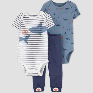 Baby Boys' Shark Top & Bottom Set - Just One You made by carter's Blue