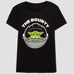 Toddler's Star Wars The Bounty Short Sleeve Graphic T-Shirt - Black