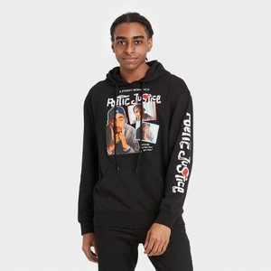 Men's Tupac Poetic Justice Hooded Sweatshirt - Black
