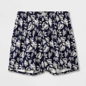 Men's Tropical Knit Boxer - Goodfellow & Co Navy