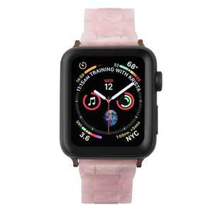 Insten Resin Watch Strap For Apple Watch 42mm 44mm All Series SE 6 5 4 3 2 1, Replacement Band, Lightweight Bracelet, Stainless Steel Buckle, Pink