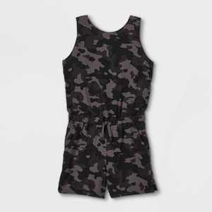 Girls' Stretch Woven Romper - All in Motion
