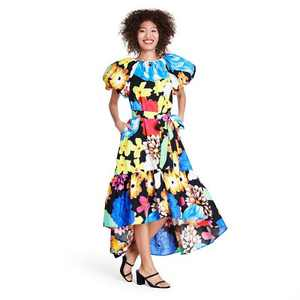 Floral Puff Sleeve High-Low Dress - Christopher John Rogers for Target