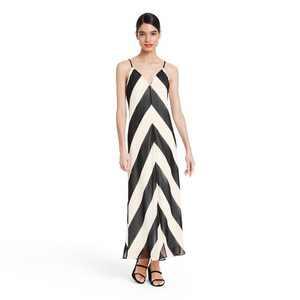Chevron Sleeveless Slip Dress - Christopher John Rogers for Target Black/White