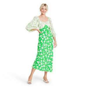 Daisy Long Sleeve Swing Dress - RIXO for Target Green