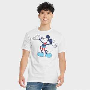 Men's Mickey Americana Short Sleeve Graphic T-Shirt - White