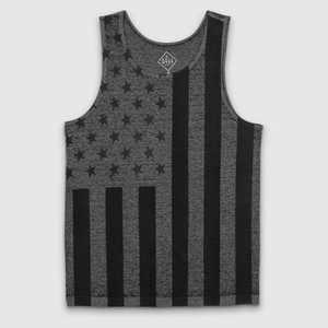 Men's Vertical Flag Tank Top - Black