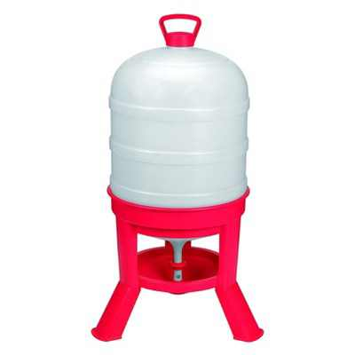 Little Giant DOMEWTR10 10 Gallon Tank Heavy Duty Poultry Chicken Gravity Waterer, Red