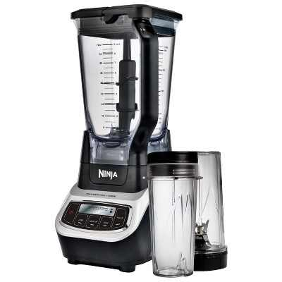 Ninja Professional Blender and Nutri Ninja Cups Health Smoothie Vitamin Extractor, Gray (Certified Refurbished)