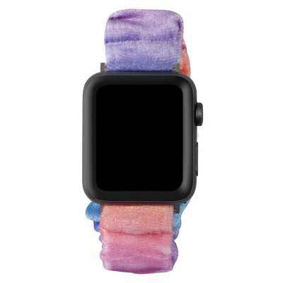 Insten Scrunchie Elastic Band Compatible with Apple Watch 45mm 44mm 42mm Series 7 6 SE 5 4 3 2 1, Multi Color Strap Bracelet