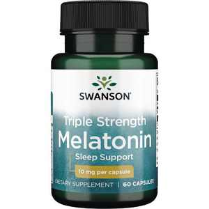 Swanson Triple Strength Melatonin 10 mg 60 Capsules
