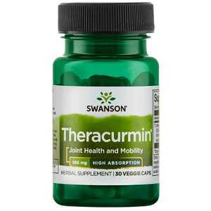 Swanson High Absorption Theracurmin Vegetable Capsules, 100 mg, 30 Count