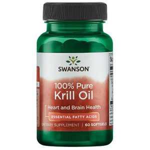 Swanson 100% Pure Krill Oil 500 mg 60 Softgels