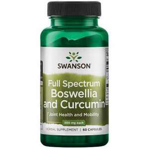 Swanson Full Spectrum Boswellia and Curcumin 60 Capsules.