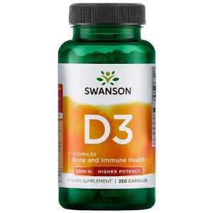 Swanson Vitamin D3 - Higher Potency 2,000 Iu 250 Capsules