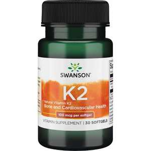 Swanson Vitamin K-2 - Natural 100 Mcg 30 Softgels
