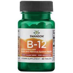 Swanson Vitamin B-12 Methylcobalamin - High Absorption 5,000 Mcg 60 Tablets