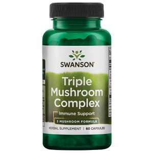 Swanson Triple Mushroom Standardized Extract Complex for Immune Support 60 Capsules.