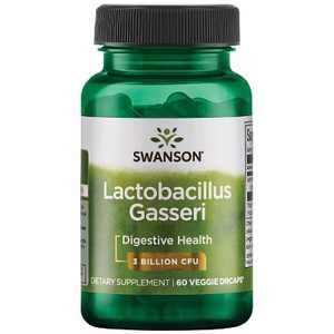 Swanson Lactobacillus Gasseri Probiotic Vegetable Capsules, 3 Billion Cfu, 60 Count