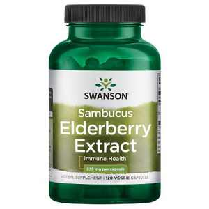 Swanson Herbal Supplements Sambucus Elderberry Extract 575 mg Capsule 120ct