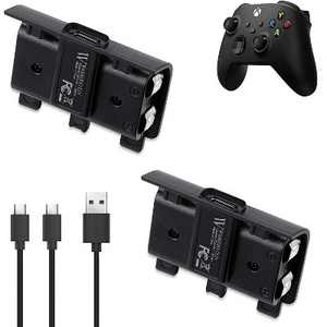 Wasserstein 700mAh Controller Battery Packs and Charging Cable for Microsoft Xbox Wireless Controller 2020 Model (Xbox Series X/S, Xbox One) (2 Pack)