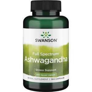 Swanson Ashwagandha Root Capsules, 450 mg, 100 Count