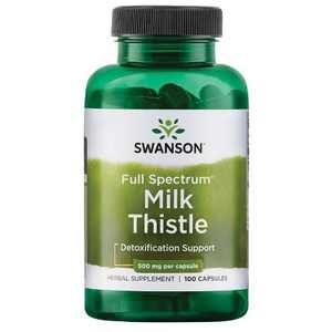 Swanson Milk Thistle Seed Capsules, 1000 mg, 50 Count