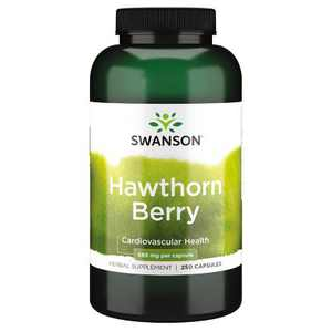 Swanson Hawthorn Berries Supplement | Supports Blood Pressure & Heart Health 250 Capsules, 565 mg each Hawthorne Berry Pills