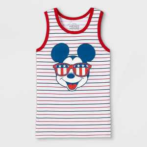 Boys' Disney Mickey Mouse American Shades Tank Top - White