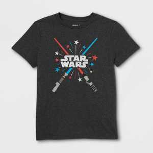 Boys' Star Wars Glow Sabers Short Sleeve Graphic T-Shirt - Black