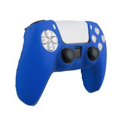 Insten Controller Grip Cover Case Compatible with PS5 Controller - Protective Silicone Skin, Blue